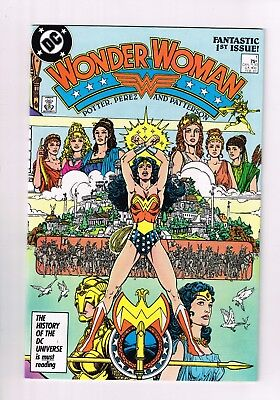 Wonder Woman #1 (1987 Series) High Grade NEAR MINT GEORGE PEREZ MOVIE COMING