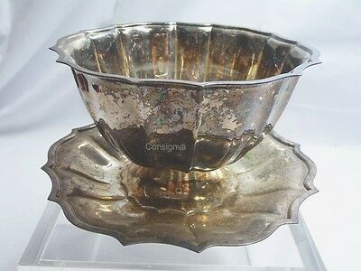 Chippendale International Co Vintage Silver Plate Gravy Boat Serving Dish