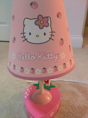 Collectible  Hello Kitty Table Lamp with Shade  Strawberry Theme