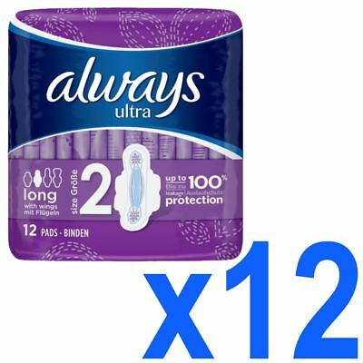 Always Ultra Long Serviettes Hygiéniques Pads Taille 2 Femmes Super Absorbant