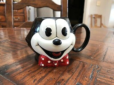 1989 Felix the Cat Vintage Ceramic Applause Mug - Great Condition