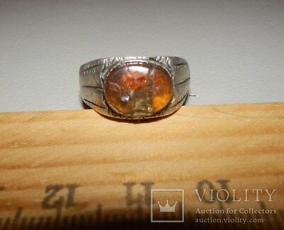 Ancient Roman Silver Carnelian Ring 1st - 3rd century AD