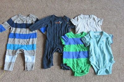 Bundle of 7 x items Gap Knitted All in One Suits Vests Trousers 3-6 months boy