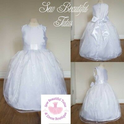 Flower Girl bridesmaid wedding satin organza dress girls age 3yrs available now