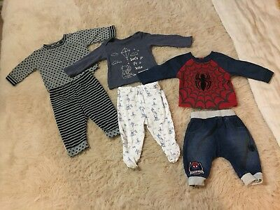 x3 Boys Top and Bottomed Size 0-3 Months