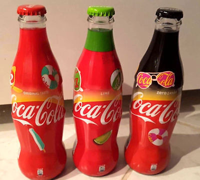 Coca Cola bottle wraped set 2018 from Romania EMPTY bottles Limited edition