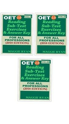 Occupational English Test OET 2.0 Reading Books Vol 1-2-3-PDF