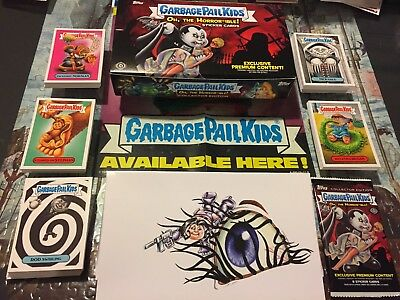 Garbage Pail Kids The Horror-ible Complete Set Collector/ Blaster Box & Wrappers