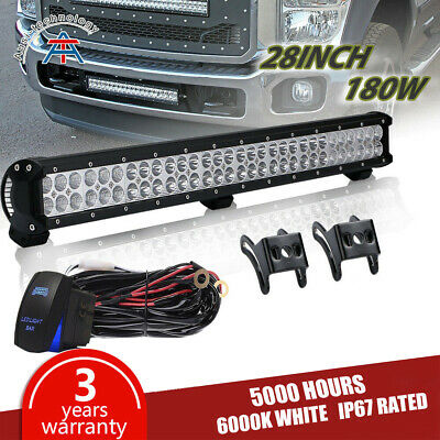 "180W 28inch LED Light Bar COMBO TWO Row Work Lamp 30"" 32"" FOR Chevrolet ATV"