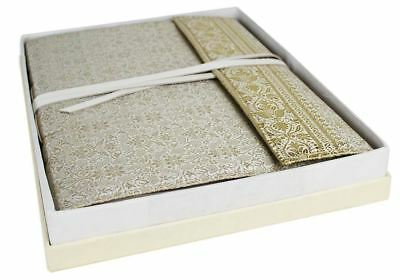 GRADE B - Sari Silk Photo Album, Large White - Handmade by Life Arts