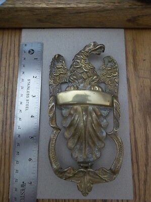 Vintage Brass Eagle Door knocker America USA Patriotic Antique Brass