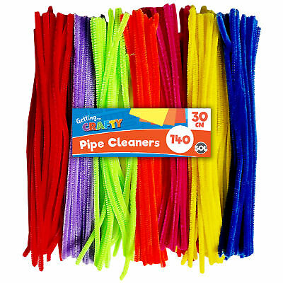 Creator Zone 140 Pipe Cleaners 2 x 70pk Pipe Cleaner in Assorted Colours 30cm x