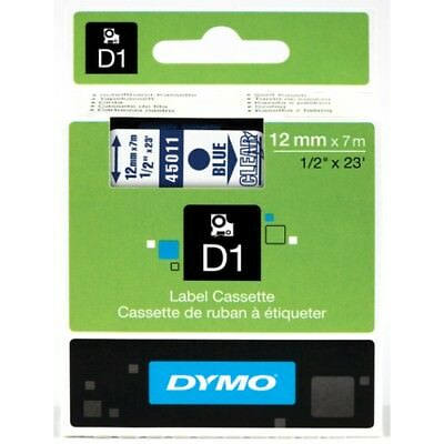 Recambio Dymo D1 45011 Blue on Clear 19mm x 7m