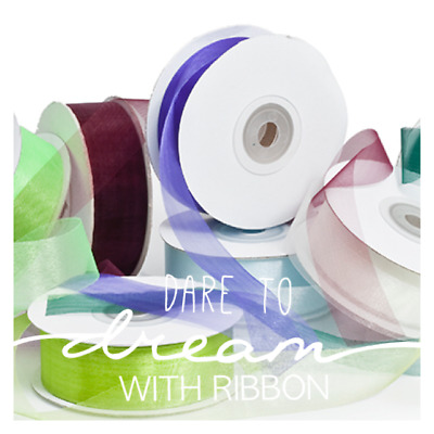 25+ Colours PRE CUT 10 METER Length Premium Organza ribbon 25mm x 10m