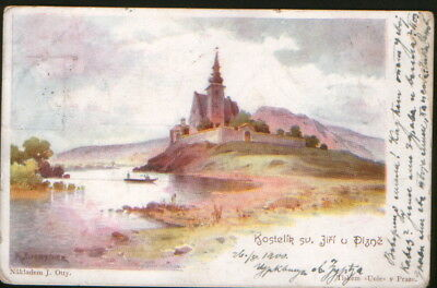 Plzen Postcard from 1900 y. Used.