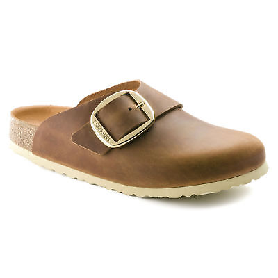 Birkenstock Oiled Leather BASEL Big Buckle Cognac Antique Brown 1011130 1011131