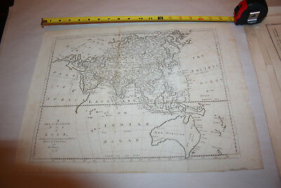 1779 MAP OF ASIA - NEW HOLLAND/AUSTRALIA China Vietnam  India Japan NO RESERVE