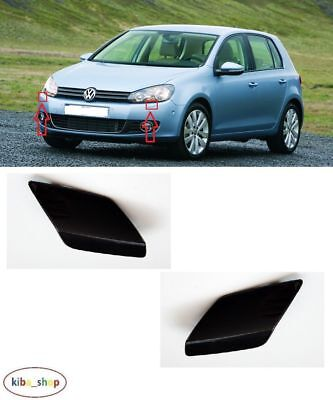 Vw Golf Vi Mk6 2009 - 2013 Front Bumper Headlamp Washer Covers Left + Right