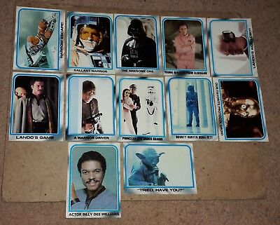 STAR WARS EMPIRE STRIKES BACK Series 2 TRADING CARDS - LOT OF 12
