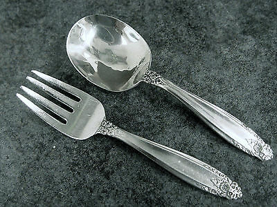 "International Silver Co ""Prelude"" Sterling 2 Piece Baby Set No Mono"