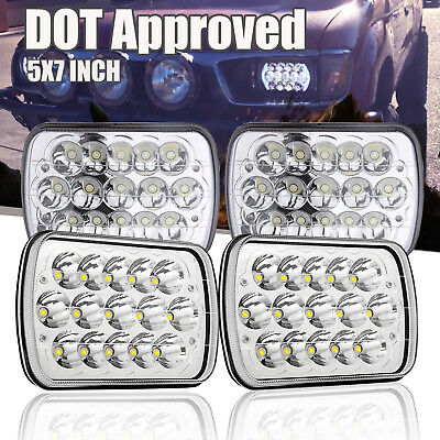 "4PC H6054 7x6"" LED Headlights Sealed Beam fit Land Cruiser Celica Pickup Dodge"