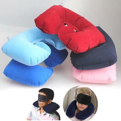 Inflatable Pillow Neck Cushion 3 in 1 Travel Set With Earplug And Sleeping Mask