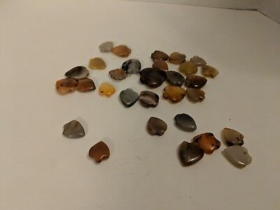 COLLECTION OF 30 STONE ARROWHEAD/Hearts...