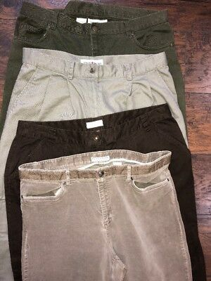 Brown Green Tan Khaki Casual Pant Lot Women's 16