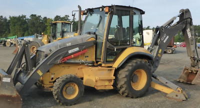 2013 Volvo BL60B 4x4 Loader Backhoe - Extendahoe - Enclosed Cab - AC & Heat