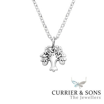 925 Sterling Silver Celtic Tree of Life Pendant Necklace (45cm / 18 inch)