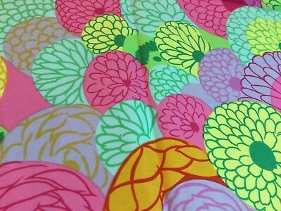 """1 yard """"mille fleur"""" The Alexander Henry Fabrics Collection, vibrant colors,"""