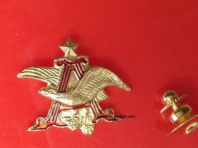 Budweiser Anheuser Busch Hat or Lapel PIN Tie Tac Pin Back 3D Official