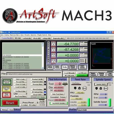 Engraving Control CNC Software Artsoft Mach 3 ⭐ Lifetime Licence ⭐