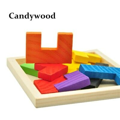 Chinese Wooden Puzzle Game Educational Jigsaw Kids Toys Wood Tangram Todler
