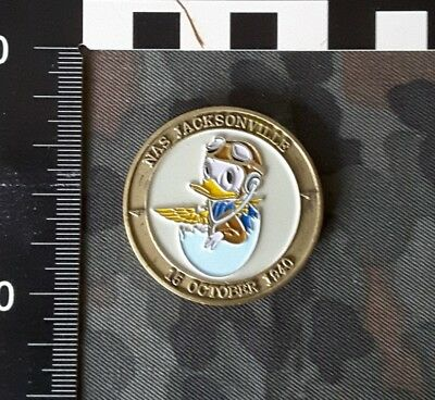 US Navy  Challenge Coin  Air Station Jacksonville 60th Anniversary Donald Duck