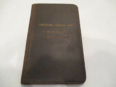 1923 Southern Pacific Railroad Trans Dept. Rules and Regulations Booklet