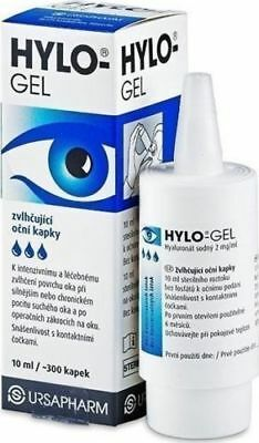 Ursapharm Hylo Gel 10ml (LUBRICANT eye drops with Sodium Hyaluronate 0.2%) 1,2,3
