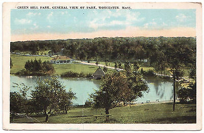 AK US USA Post Card Green Hill Park General View of Park WORCESTER ungelaufen