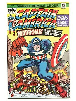 1976 Marvel Captain America #193 Falcon 1St Jack Kirby Issue Near Mint- 9.2 D5