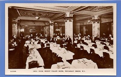 Old Vintage Rp Postcard Grill Room Regent Palace Hotel Piccadilly Circus London