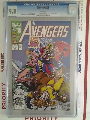 Marvel Comics Avengers #349 Cgc 9.8 Thor A God Gone Mad Ares