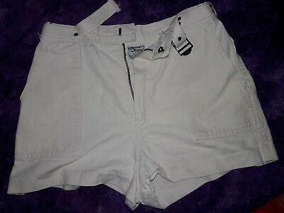 1970s Bronson of California White High Waist Shorts Vintage Size 11 12