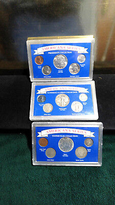 Set Of 3 American Silver Coins 1898 To 1964 15 Coins Total