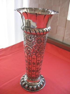 Antique English Sterling Silver Large Vase 210 grams Atkins Brothers