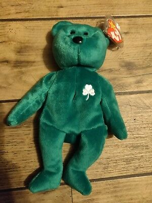 34120dc1530 TY BEANIE BABIES Rare  Erin  Irish Bear (misprinted   Numbered ...