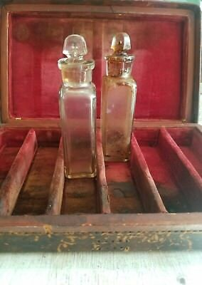Antique Apothecary leather doctor medical medicine box 1881 Caswell Hazard &Co.