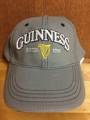 *NEW* Guinness Beer Hat - St. James Gate (Grey)