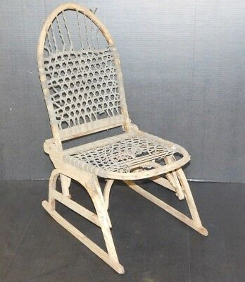 Vtg Vermont Tubbs Wood Folding Snow Shoe Chair Mid Century Modern Ski Cabin Seat