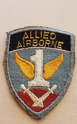 "Early Original 3.5"" WW 2 US Army Allied Airborne Patch Estate Find"