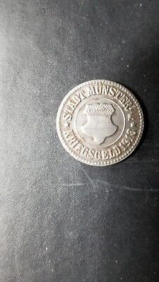 1918 WWI Munster Germany 10pf Not- Geld   circulated  L.339.3
